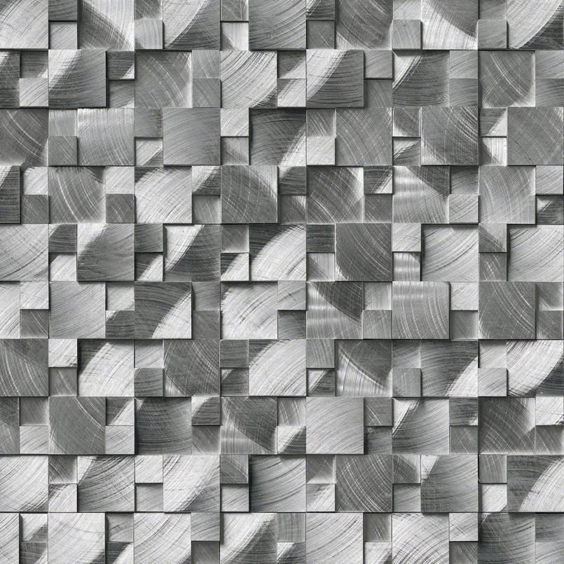 Silver Aluminum 3D